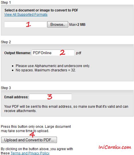 Cara Membuat, Konversi File  Ms Word, MS Excel, Ms PowerPoint, TXT dan Image atau Gambar ke Format PDF