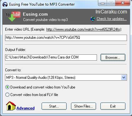 Cara Download Video di Youtube Langsung dalam Format MP3, WAV atau WMA