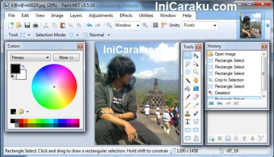 Paint.Net - Software Untuk Edit Gambar Foto Pengganti Paint di Windows