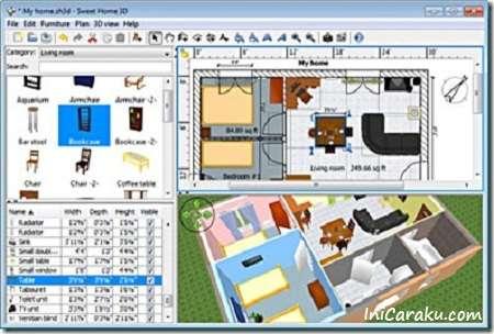 Download Software Gratis Untuk Membuat Rancangan Desain Rumah Sweet Home 3D