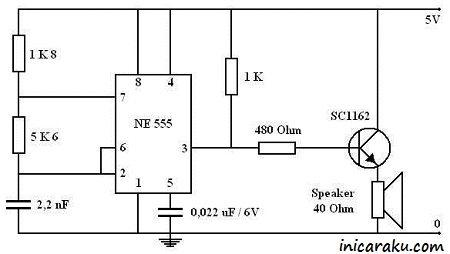 Gambar Rangkaian Elektronika Alat Pengusir Tikus