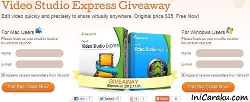 Free Registration Code iSkysoft Video Studio Express Full Version
