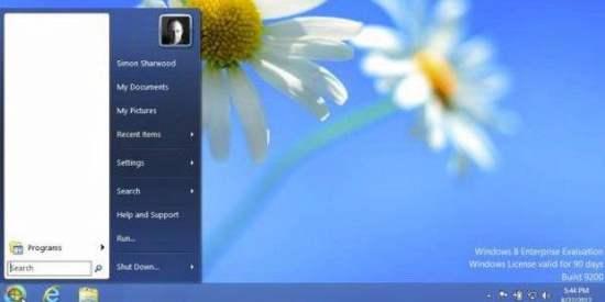 Cara Menampilkan - Memunculkan Icon Tombol Start Menu di Windows 8