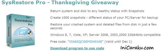 License Code Sysrestore Pro Full Version