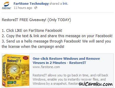License Key Farstone RestoreIt 7 Full Version