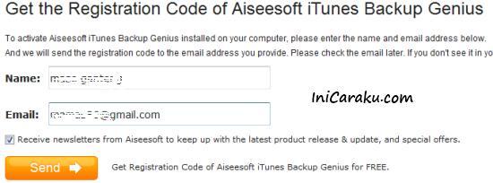 Registration Code Aiseesoft iTunes Backup Genius