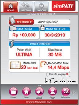 Aplikasi MyTelkomsel untuk Perangkat Android, BlackBerry dan iOS atau iPhone
