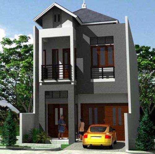 Gambar Desain Rumah Modern Bertingkat Minimalis