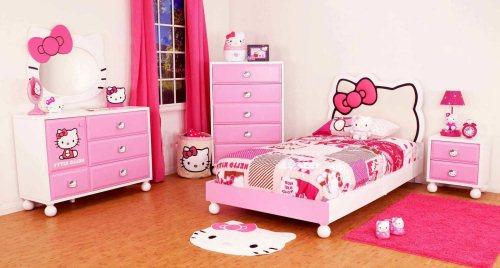 Gambar Kamar Tidur Anak Perempuan Tema Hello Kitty