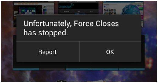 Gambar Aplikasi Sering Crash dan Muncul Pesan Force Closes