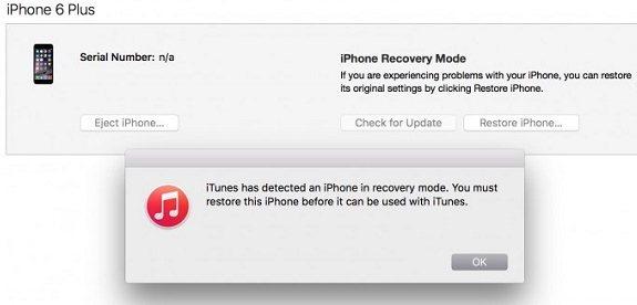 Gambar Mode Recovery di iPhone