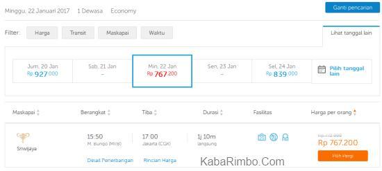 Gambar Kisaran Harga Tiket Pesawat Muara Bungo ke Jakarta