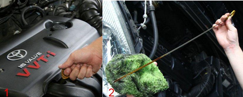 Gambar Cara Memeriksa Oli Mobil