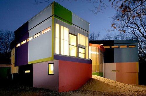 Gambar Kreasi Warna Warni Rumah Modern Minimalis Masa Kini