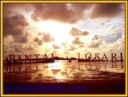 Gambar Indahnya Sunset di Pantai Losari