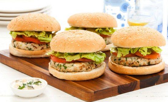Gambar Resep Burger Isi Ikan Keju Lezat