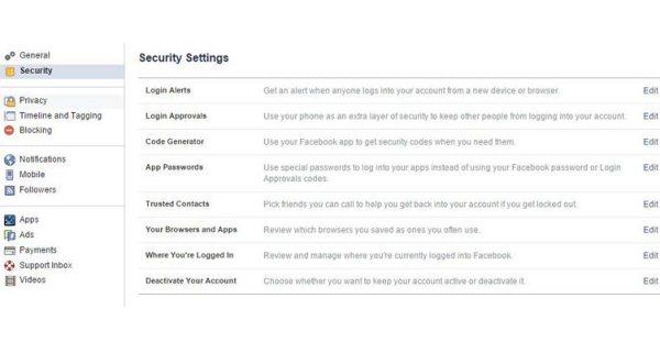 Gambar Cara Mengatur Sistem Keamanan Facebook