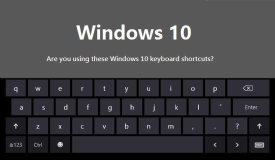 Gambar Keyboard Shortcut untuk Windows 10