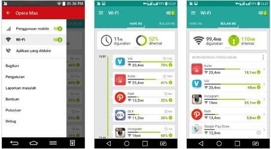 Gambar Opera Max, Aplikasi untuk Menghemat Data Internet