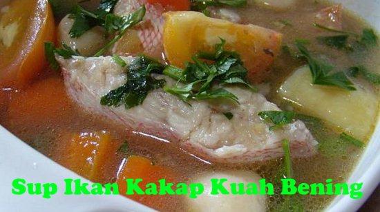 Gambar Sup Ikan Kakap Kuah Bening
