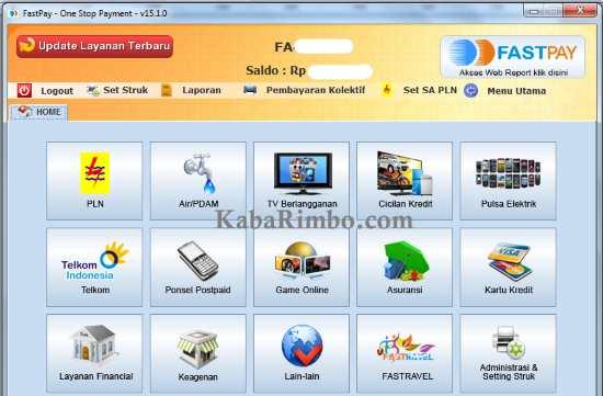 Gambar Tampilan Aplikasi Fastpay