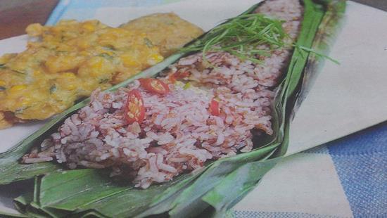 Gambar Nasi Merah Bakar Telur Asin