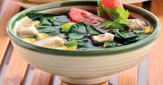 Gambar Sup Bakso Ikan dengan Daun Katuk