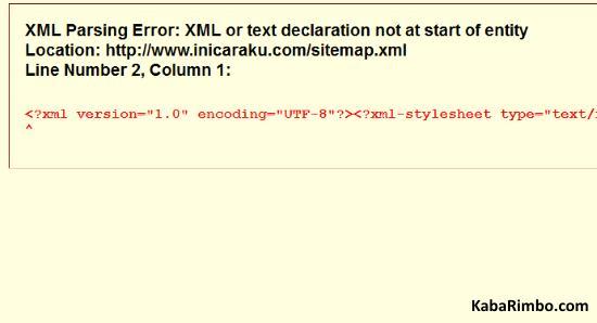 Gambar Xml Sitemap Blog Error pada Plugin Google XML Sitemaps