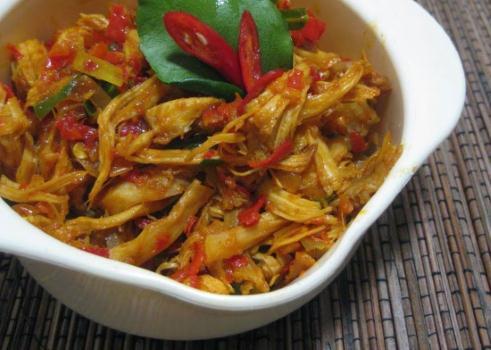 Resep Ayam Suwir Pedas Gurih