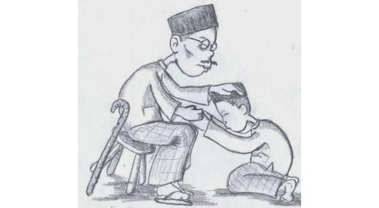 Gambar Orang yang Sedang Sungkeman pada Orang Tuanya
