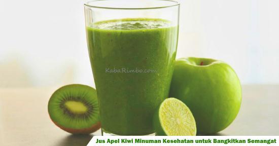 Gambar Jus Apel Kiwi Minuman untuk Membangkitkan Semangat