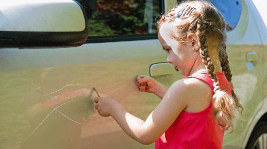 Gambar Cara Menghilangkan Baret atau Goresan di Bodi Mobil